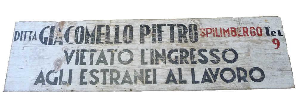 vecchia insegna Giacomello Pietro snc
